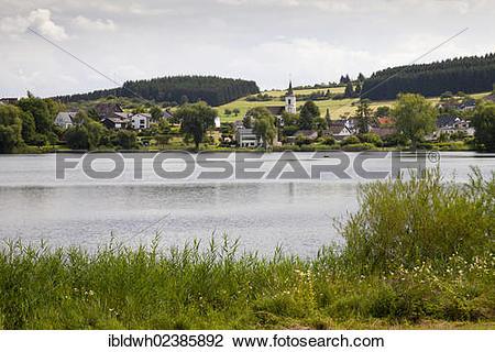 """Stock Photo of """"Schalkenmehr Maar, near Schalkenmehren, Daun."""