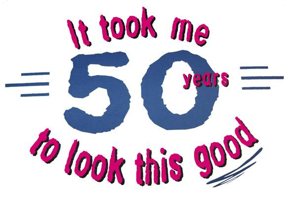 50 Years Old Clipart.