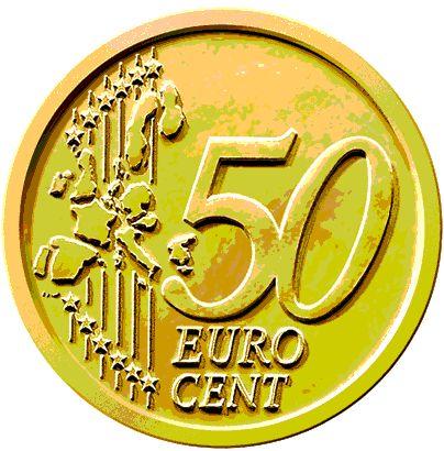 50 Cent Piece Clipart.