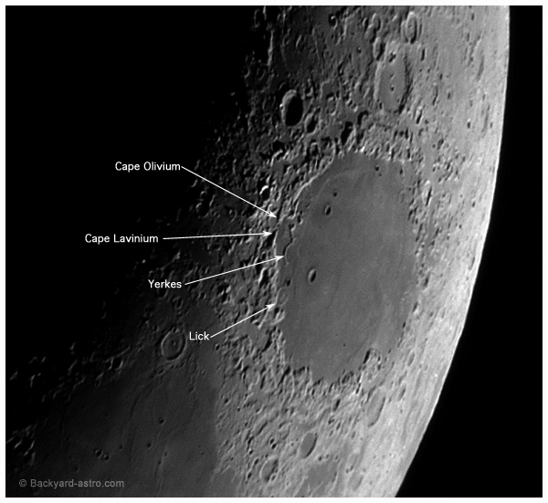 Lunar observing log: Western Mare Crisium, two old Capes and two.