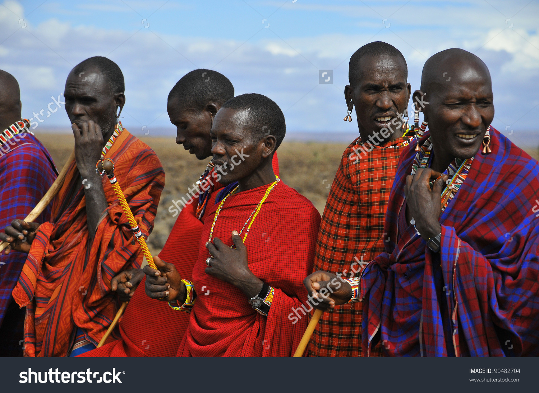 Amboseli Kenya Oct 13 Group Unidentified Stock Photo 90482704.