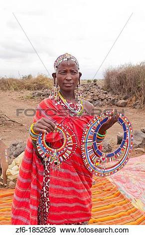 Pictures of Kenya Africa Amboseli Maasai tribe village Masai woman.
