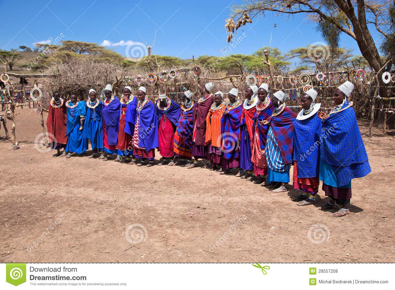 Maasai Village Royalty Free Stock Image.
