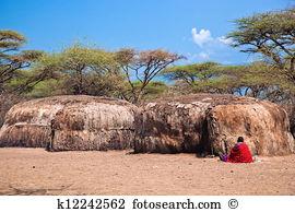 Maasai village Stock Photo Images. 389 maasai village royalty free.