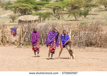 Maasai Dance Stock Photos, Royalty.