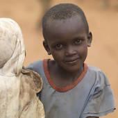 Stock Photo of African child in Maasai Village, Africa u21869283.