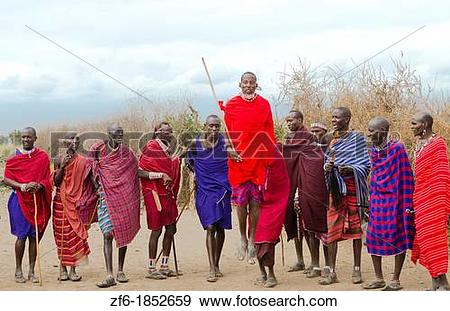 Stock Photograph of Amboseli National Park Kenya Africa safari.