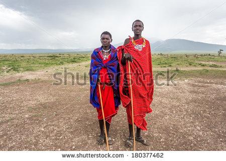 Masai People Stock Photos, Royalty.