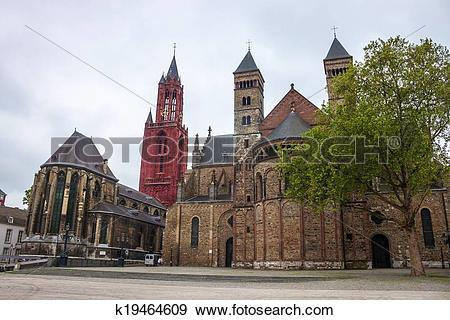 Stock Photograph of Churches in Maastricht k19464609.