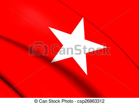 Clipart of Flag of Maastricht, Netherlands. Close Up. csp26863312.