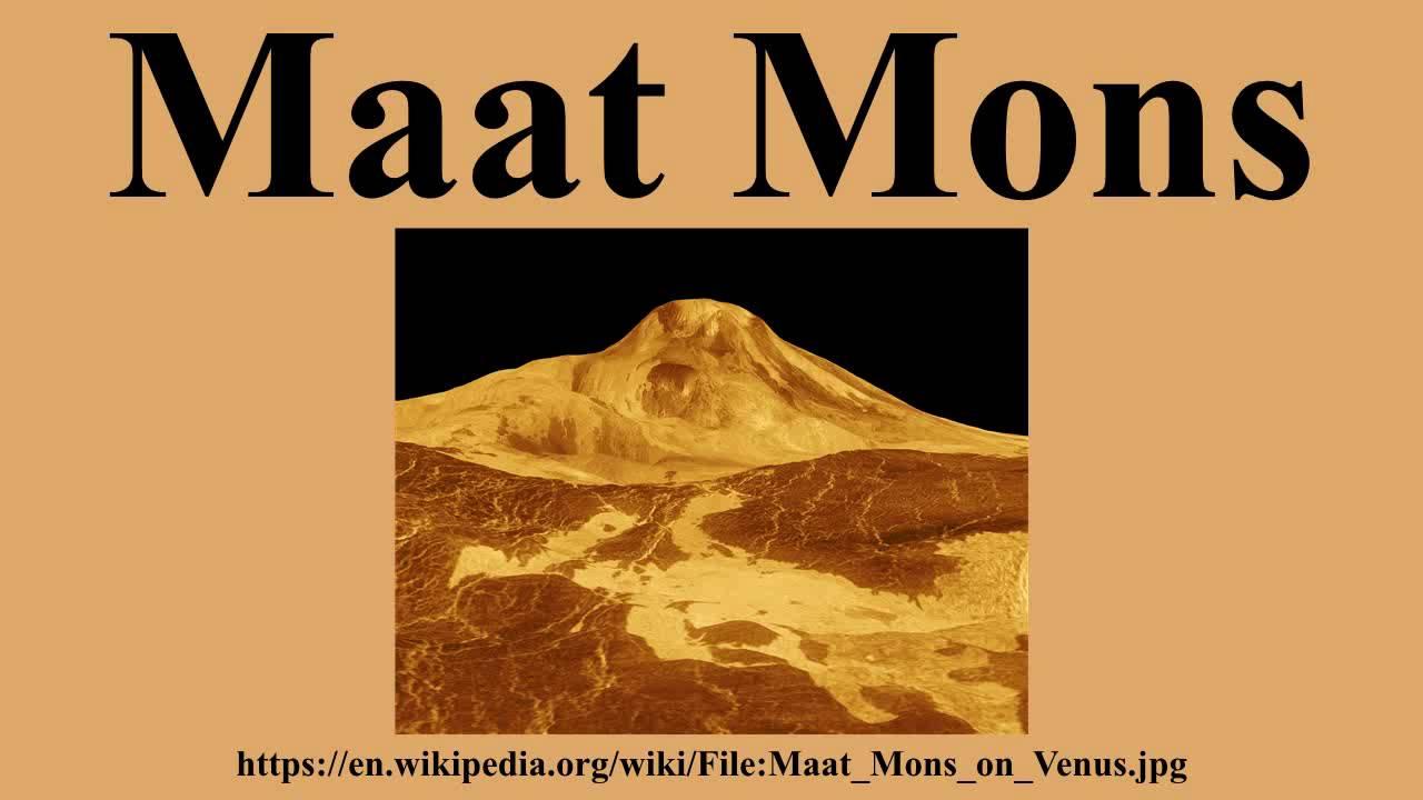 Maat Mons.