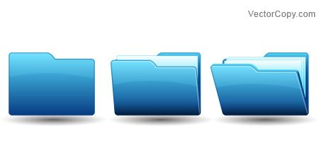 Open folder icon, free vector.
