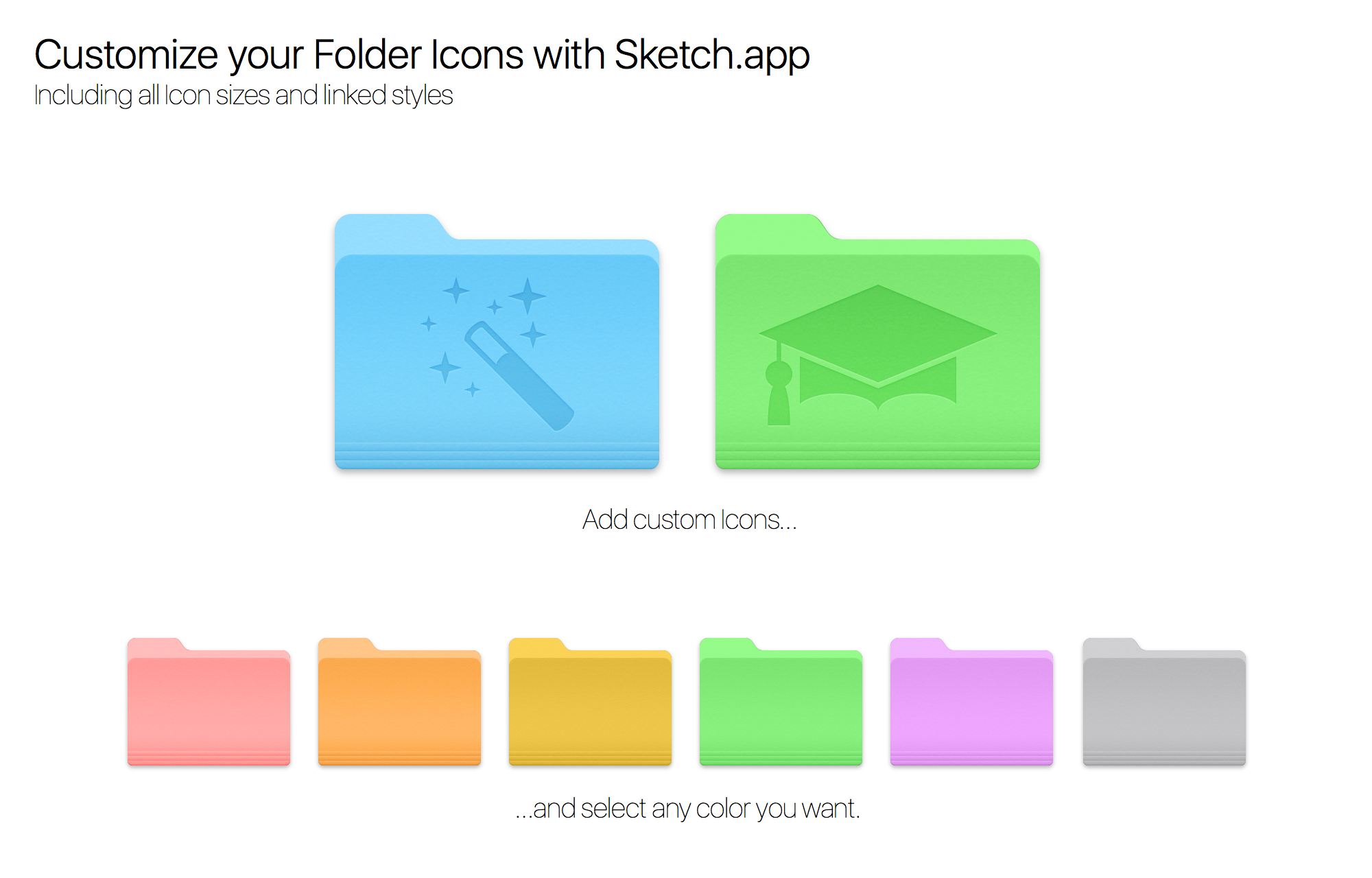 Customize your Mac Folder Icons with Sketch.app by.