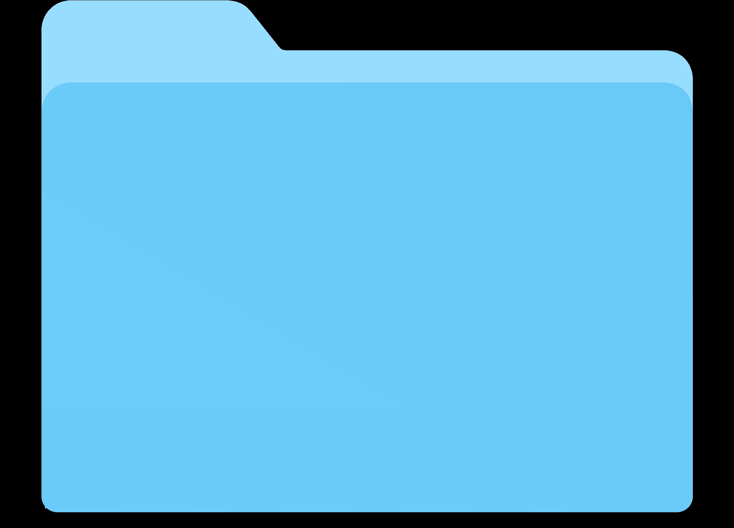 Blue Folder Vector Clipart Image.