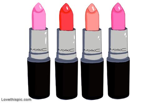 MAC lipstick art drawing girly girl pink makeup art drawing.