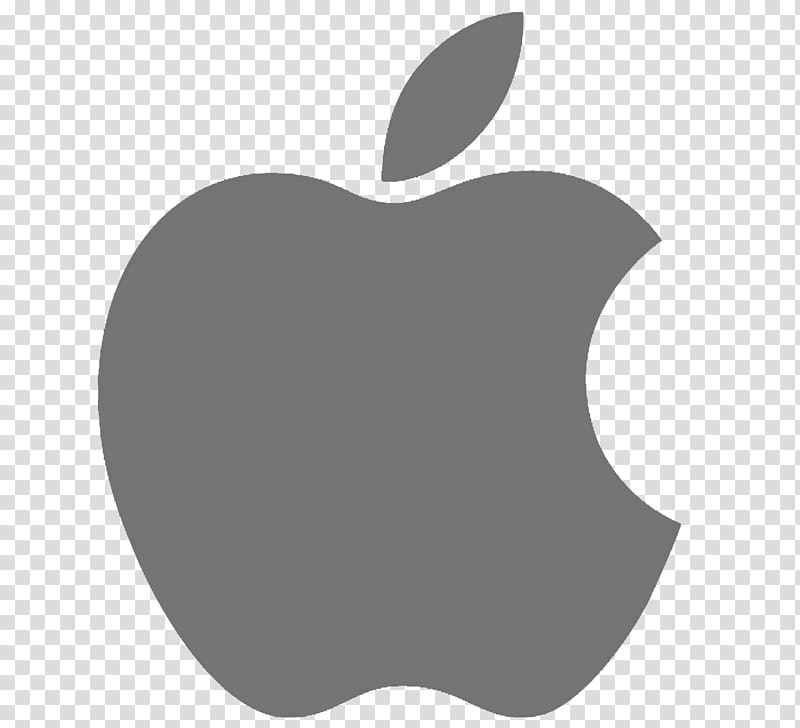 MacBook Pro iMac Logo macOS, black transparent background.