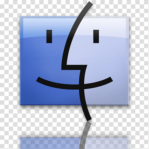 MAC OS X LEOPARD DOCK, mac finder logo transparent.