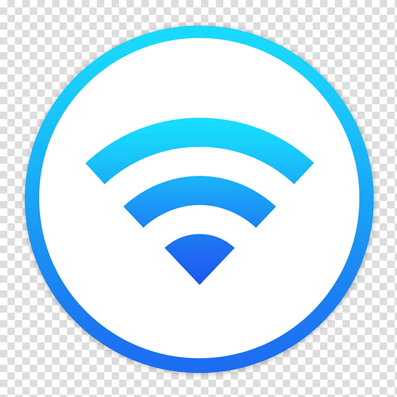 Flader default icons for Apple app Mac os X, Airport, blue.