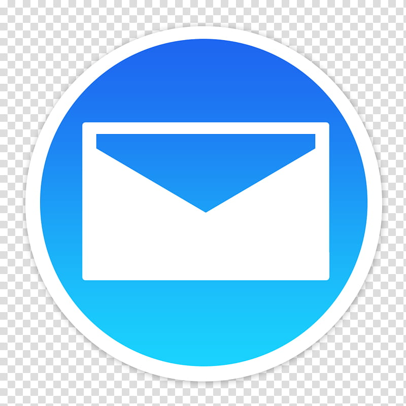 Flader default icons for Apple app Mac os X, Mail v, white.