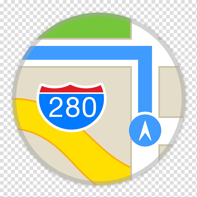 Flader default icons for Apple app Mac os X, Maps, Google.