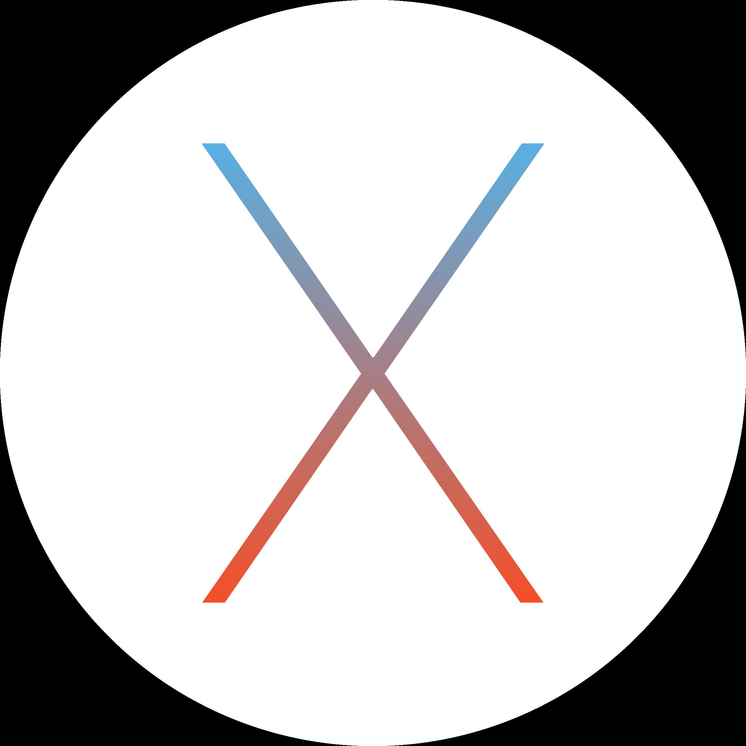 Mac OS X Logo PNG Transparent & SVG Vector.