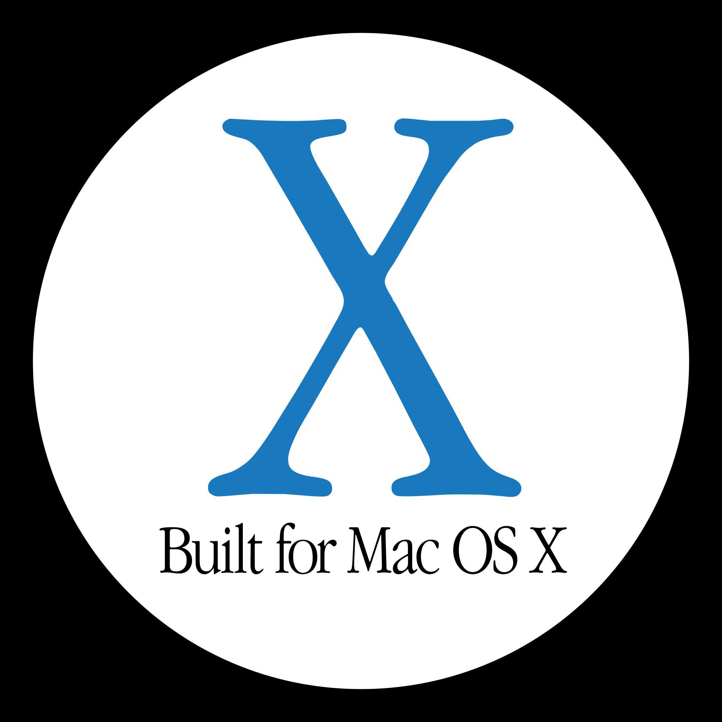 Built for Mac OS X Logo PNG Transparent & SVG Vector.