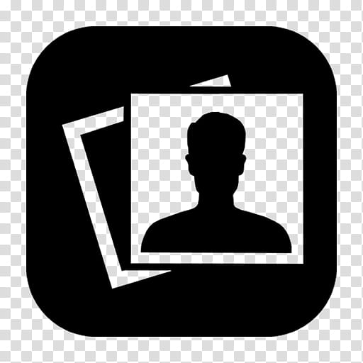 IOS Icons for Mac Black,,Booth transparent background PNG.
