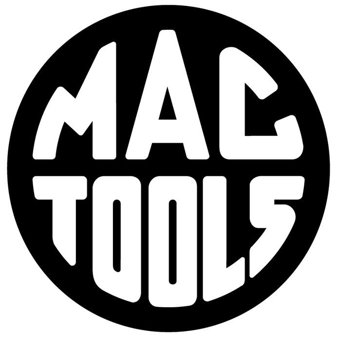 Mac tools logo in GREAT STUFF.