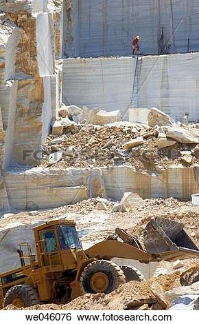 Stock Images of Marble quarry, Macael. Almer?a province, Andalusia.