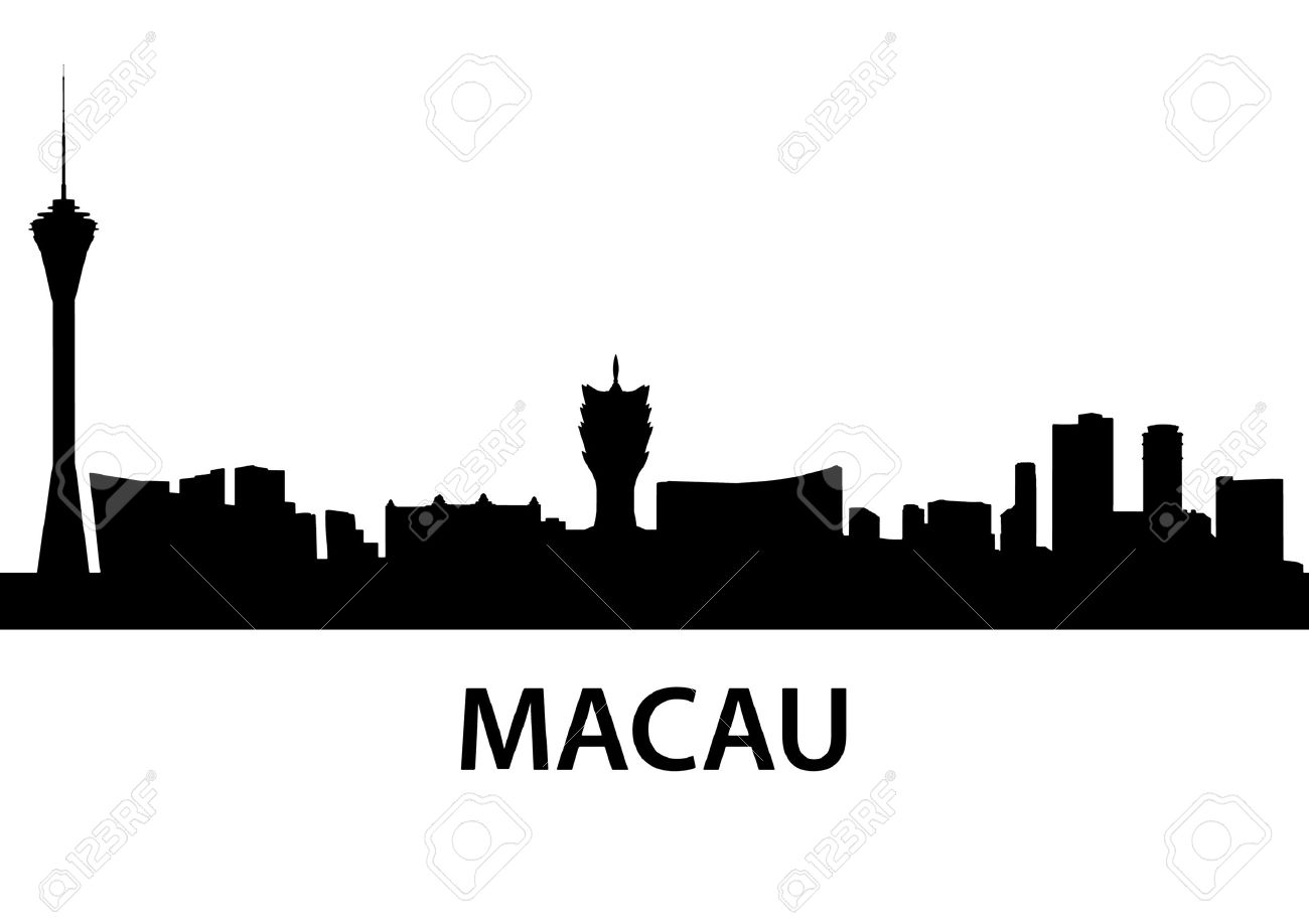 Macau Black And White Clipart.