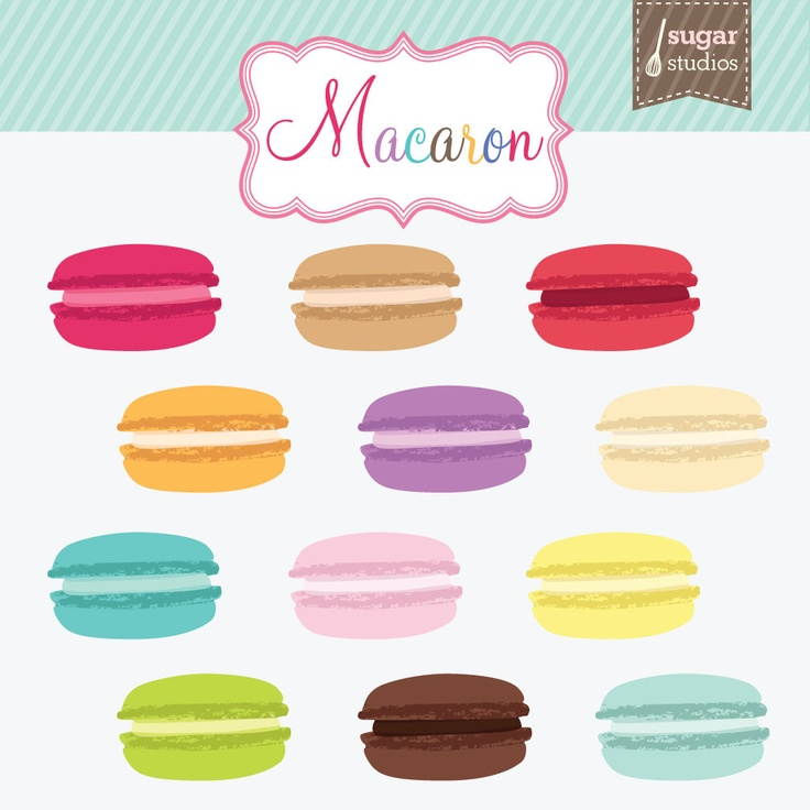 Macaron Cookie Digital Clipart.