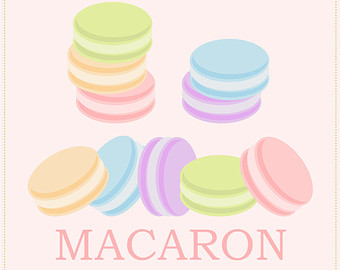 Macaron clipart.