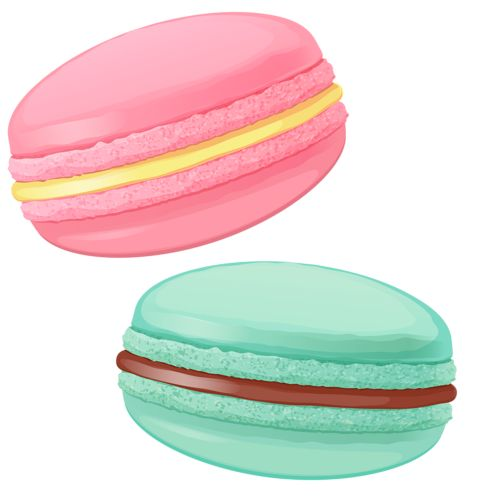 Macarons clipart.