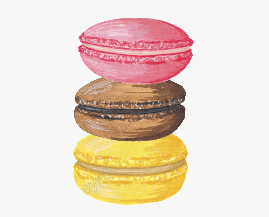 Transparent Background Macaron Clipart , Transparent Cartoon.