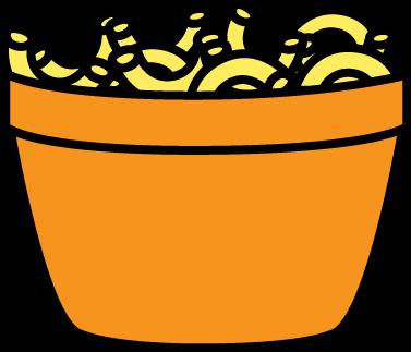 Bowl of Macaroni Clip Art.