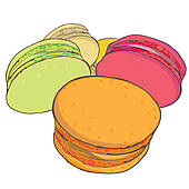 Macaroon Clip Art and Illustration. 1,029 macaroon clipart vector.