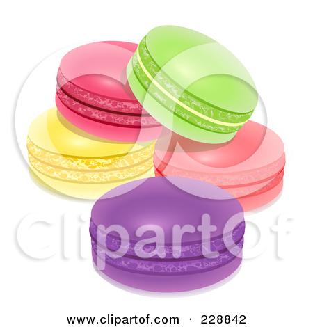 Clipart of Macaroon Cookies.