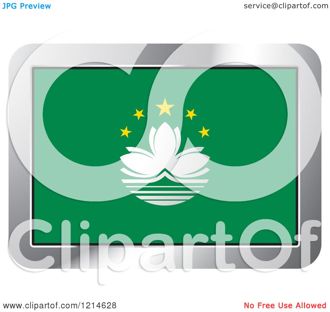 Macau flag clipart.