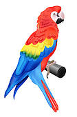 Royalty Free Blue And Yellow Macaw Clip Art.