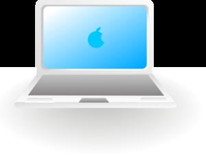 Apple mac laptop clipart.