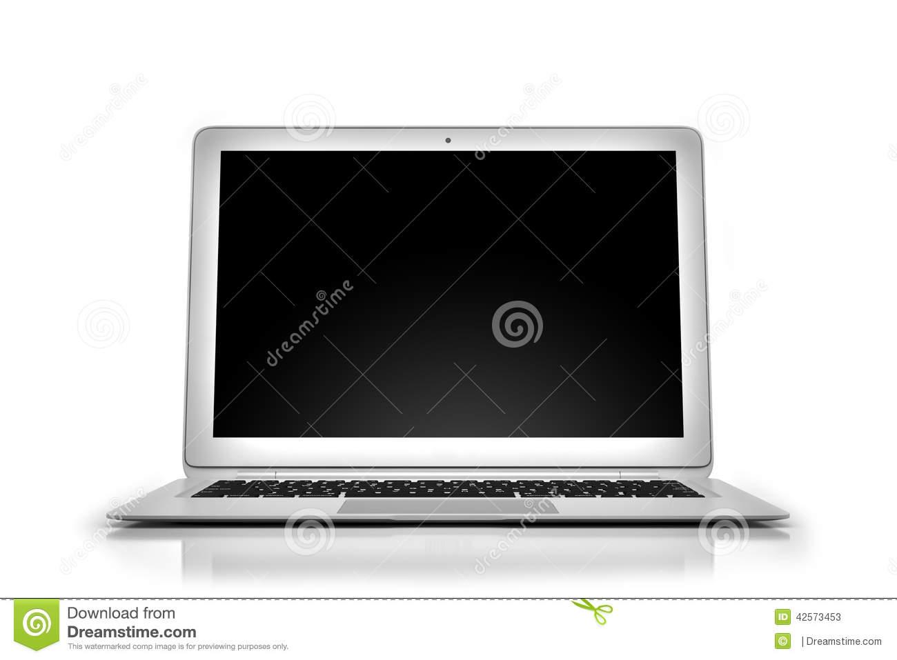 Macbook Air Laptop Stock Illustration.