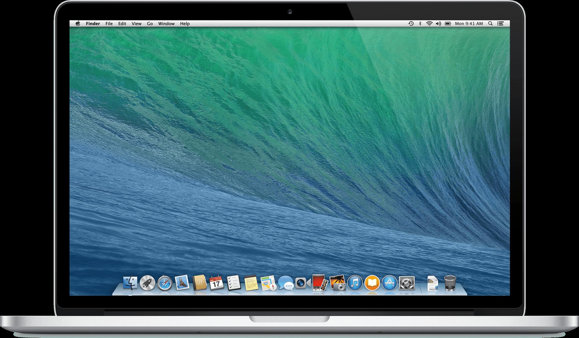 Macbook Laptop transparent PNG.
