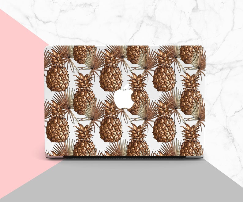 Pineapple Macbook Pro 15 Case Vintage Clipart Macbook Pro 13 Inch Case Art  Air 11 Cover Hard Macbook Retina Case Gold Mac Air Cover PD0165.