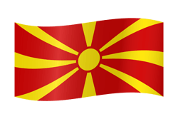 Macedonia flag clipart.