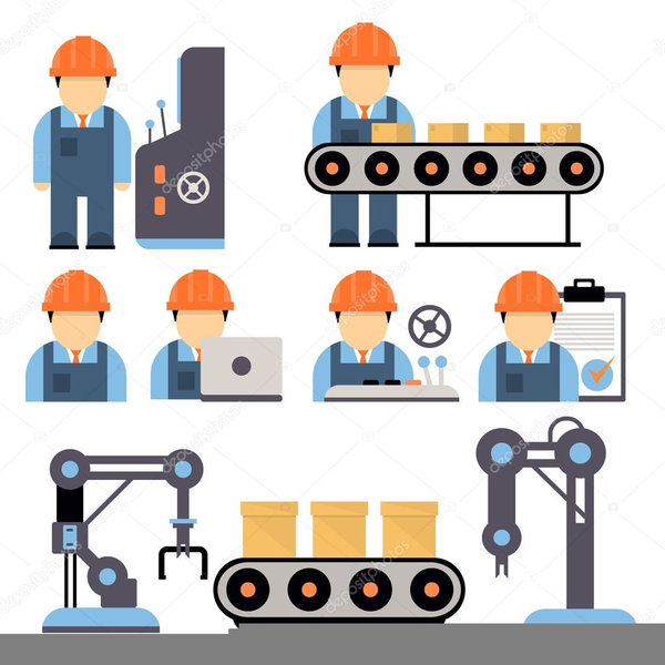 Clipart Machine Operator.