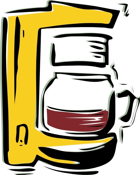 Coffee Machine clip art Free vector in Open office drawing.