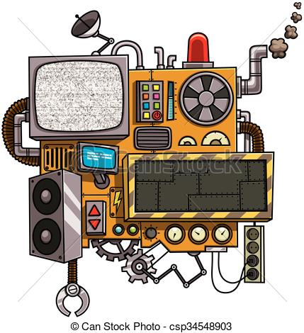 Vector Clipart of Machine.