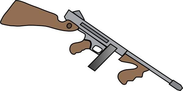 Clipart machine gun.