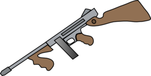 Machine gun clipart #12