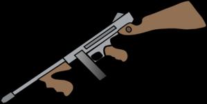 Thompson Machine Gun Clip Art at Clker.com.